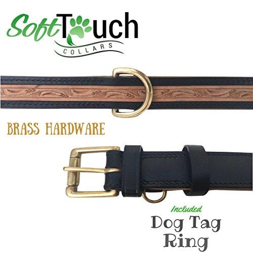 1f2f8ab0c83 Soft Touch Collars - Custom Handmade, Hand Tooled Medium Padded Leathe